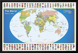 National Geographic Kids World Political Map Posters