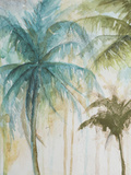 Watercolor Palms in Blue I Poster by Patrcia Pinto