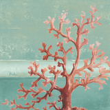 Teal Coral Reef I Poster von Patricia Pinto