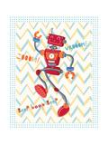 Zoom Robot Poster by Christina Skapriwsky