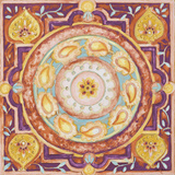 Pink Medallion I Poster by Janice Gaynor
