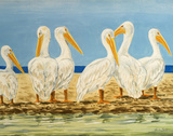 Coastal Flock II Prints by Linda Baliko
