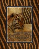 Elegant Safari II (Tiger) Kunstdruck von Patricia Pinto