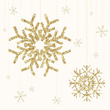Golden Snowflake I Art by  A Fresh Bunch