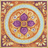 Pink Medallion II Prints by Janice Gaynor
