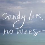 Sandy Toes Prints by Susan Bryant