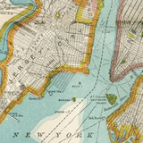 Vintage New York Map IV Posters by  Piddix