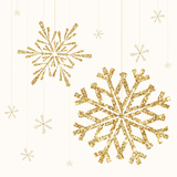 Golden Snowflake II Posters by  A Fresh Bunch