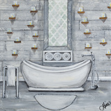Grey Bath II Prints by Gina Ritter