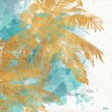 Beach Palm Watercolor II Kunstdrucke von Patricia Pinto