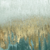Teal Woods In Gold II Prints by Roberto Gonzalez