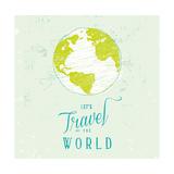 Let's Travel 1 Art by  Z Studio