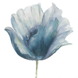 Flower in Blue I (on white) Art by Patricia Pinto