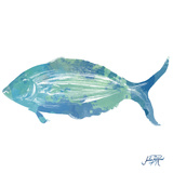 Watercolor Fish in Teal I Prints by Julie DeRice