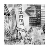 New York Intersection B&W Prints by Sara Abbott