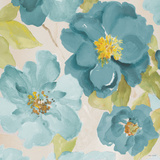 Teal Floral Delicate I Posters by Lanie Loreth