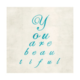 You are Beautiful in Blue Prints by Morgan Yamada