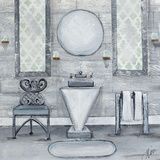 Grey Bath I Print by Gina Ritter