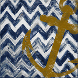Nautical Chevron I Poster by Patricia Pinto