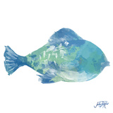 Watercolor Fish in Teal II Posters by Julie DeRice