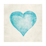 Blue Heart Print by Morgan Yamada