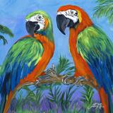 Island Birds Square I Poster di Julie DeRice