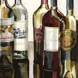 B&G Bottles Square I Art by Heather French-Roussia