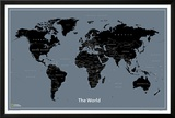 National Geographic Modern World Map Prints