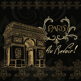 Elegant Paris Gold Square IV Posters by Linda Baliko