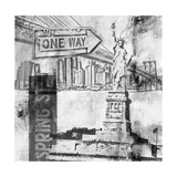New York One Way B&W Posters by Sara Abbott