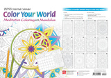 Color Your World: Meditative Coloring with Mandalas - 2016 Desk Pad Calendars