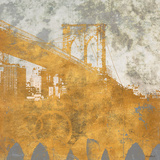 NY Gold Bridge at Dusk I Posters by Dan Meneely