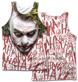 Dark Knight- Joker Face (Front/Back Print) Tank Top