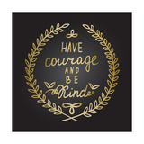 Inspiration Quote in Gold Laurel Leaves Frame Print by  ZenFruitGraphics