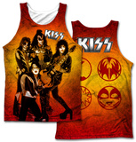 Kiss- Fire Pose (Front/Back Print) Tank Top