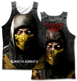Mortal Kombat X- Finish Him (Front/Back Print) Tank Top