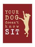 Doesn't Know Sit Print by  Dog is Good