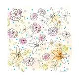 Floral Premium Giclee Print by Sarah Ogren