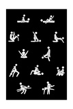Icon Kamasutra in White on Black Giclee Print by Gosia Warrink