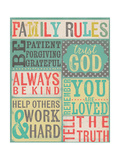 Family Rules Reproduction giclée Premium par Katie Doucette