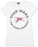 Juniors: Star Wars The Force Awakens- Round Word T-Shirt