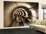 Underground Tunnel Wall Mural