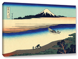 Tama River In The Province Of Misushi, Gallery-Wrapped Canvas Stretched Canvas Print by Katsushika Hokusai
