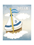 Dream Sailboat II Art by Jennifer Pugh