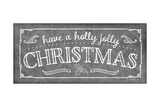 Holly Jolly Christmas Pewter Prints by Jennifer Pugh