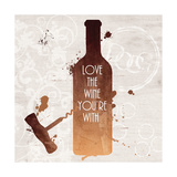 Love the Wine Posters av Anna Quach