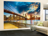 Manhattan Sunset Wall Mural