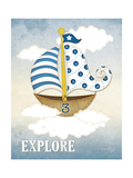 Dream Sailboat III Posters by Jennifer Pugh