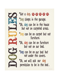 Dog Rules Prints by Jo Moulton