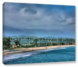 The Beach At Santa Barbara, Gallery-Wrapped Canvas Stretched Canvas Print by Steve Ainsworth